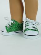 Green Sequin Sneakers -46cm Dolls