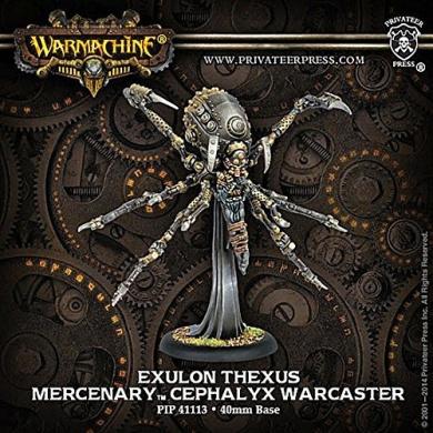 Warmachine - Mercenary - Exulon Thexus - Cephalyx Warcaster
