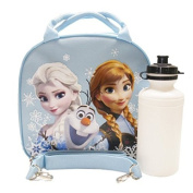Disney Frozen Elsa, Anna, and Olaf Light Blue Lunch Bag and 8 Piece Frozen Stationery Set