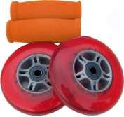 RED Replacement Razor Scooter WHEELS, BEARINGS, GRIPS