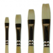Interlocked White Bristle Set Flats 2,4,6,8