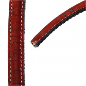 Regaliz Stitched Mini Portuguese Cork Cord, 10x5mm with Synthetic Back, By The Inch, Red