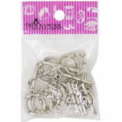 Alloy Bar & Ring Toggle Clasps, Antique Silver Colour, for Jewellery Bracelet Necklace Making DIY, Pack of 12