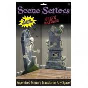 Halloween Graveyard Raiders Scene Setter Add on Decorations x 2