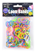 Midwest Design Imports Loom Bands Neon Beaded Assortment, 225 Bands and 25 Clasps