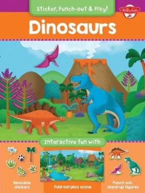 Dinosaurs: Interactive Fun with Reusable Stickers, Fold-Out Play Scene, and Punch-Out, Stand-Up Figures!