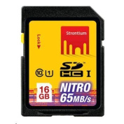 STRONTIUM Nitro Series 16 GB Ultra High Speed SDHC UHS-1 433X Card  up to 65MB/s
