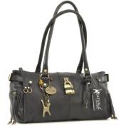 Catwalk Collection Leather Padlock Handbag - Chancery