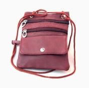 Genuine Lambskin Leather Travel Organiser Crossbody Shoulder Bag