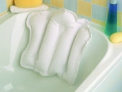 New Inflatable Travel Bath Pillow Soft Finish & Back Suction Cups