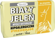 BIALY JELEN PREMIUM - Hypoallergenic bar soap with oats extract - 100g