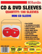 100 MINI 8CM CD DVD DISC PLASTIC HEAT SEALED SLEEVES WITH FLAP SCRATCH RESIST