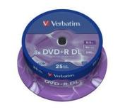 Verbatim 43757 - 25PK 8.5GB 8x DL DVD+R Spindle