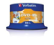 Verbatim 43533 - 50PK Inkjet 4.7GB 16X DVD-R SP