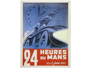 FRENCH VINTAGE METAL SIGN 40x29 CM POSTER 24HOURS OF LE MANS 12 AND 13 OF JULY 1954