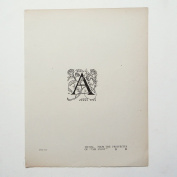 """Aubrey Beardsley - Antique Print - Initial. From The Prospectus of """"The Savoy""""."""