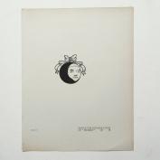 "Aubrey Beardsley - Antique Print - Design for Reverse Cover of ""Pierrot""."