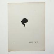 Aubrey Beardsley - Antique Print - Silhouette of Aubrey Beardsley.