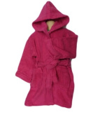 Cerise Hooded Childrens Robe Age 8