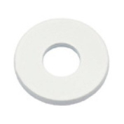Metal round spacer 10mm White x1