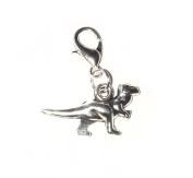 Juicy Jewellery Quirky Silver Dinosaur Clip On Bracelet Charm