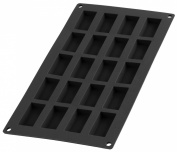 Lékué 20 Cavity Gourmet Financier Mould, Black