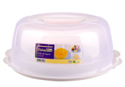 KITCHEN PRO CAKE CARRIER CADDY FOOD COVER LOCKABLE-WHITE FROM CFU