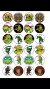 24 Ninja Turtles Cupcake Toppers