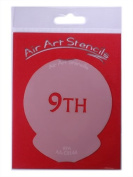 9TH Cupcake Stencil - Reusable Flexible Food Grade Plastic Stencil for Cake and Craft Design, Airbrushing and more