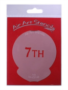 7TH Cupcake Stencil - Reusable Flexible Food Grade Plastic Stencil for Cake and Craft Design, Airbrushing and more