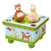 Woodland Friends - Wooden Music Box
