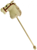 Hobby Horse With Sound (galloping noises and neighing) - 83cm Beige