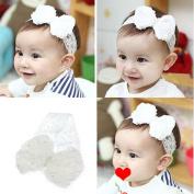 Ukamshop(TM)1PC Super Cute Rhinestone Unusual Angel Girls Baby Pearl Flowers Hairband Headbands For Baby