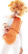 Wallaboo Baby sling Connexion, Easy Adjustable and Ergonomic, Newborn 3.6kg to 3.6kg, Orange