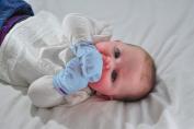 Gummee Glove Anti-scratch Teething Mittens Blue
