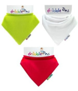 Dribble Ons Christmas Bandana Bib - Red, Green & White - ** 3 PACK *.