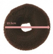 Womens/Girls On Trend Fashionable 10.5cm Large Hair Donut / Doughnut Bun Former / Styler - Dark Brown