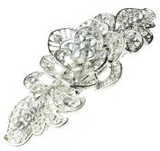 Vintage Rose and Diamanté Hair Clip