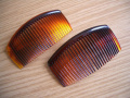 2 x Brown Large 90mm Side Combs / Hair Slides