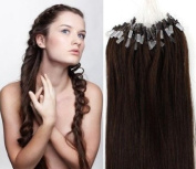 Loop Micro Ring Remy Human Hair EXTENSION fashion Colours Dark Brown,50g,100S 46cm