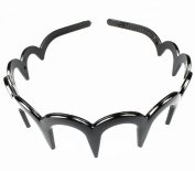 Useful black comb head band. Holds hair back firmly and stays in place. Great hair accessory for everyday wear.