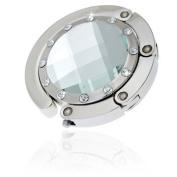 In Handbag Heaven Silver Glass Bling Compact Handbag Hook - Free P & P