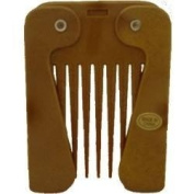 Wooden Effect Comby Afro Comb with Folding Handle