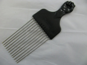 Fist handle design longer length metal teeth afro hair comb. Ideal for untangling hair.