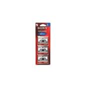 Sony 3-Pack 60min Micro Cassette