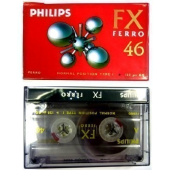5 PHILIPS BLANK CASSETTE AUDIO TAPES HIFI CAR RECORDER FX FERRO 46 HIGH QUALITY