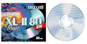Maxell CD-RW MUSIC CD - REWRITABLE ( XL-11 80 CD RW Music) - 80 minute Blank Music CD includes Plastic Jewel CD case (Compact Disc Digital Audio ReWritable) - Compatible with TEAC LP-R400 & LPR500 Music Centres
