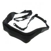 Pro Neoprene Comfort Neck Strap - Black. Wide fitting for DSLRs and large compact cameras