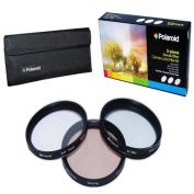 Polaroid Optics 77mm 3 Piece Special Effect Camera/Camcorder Lens Filter Kit