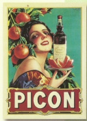 FRENCH VINTAGE METAL SIGN 20x15cm RETRO AD PICON BEER